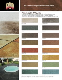 And Color Palettes For Concrete Stain Home