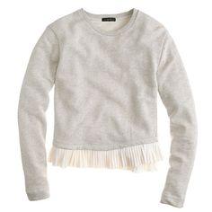 Ruffle-hem sweatshirt : knits | J.Crew
