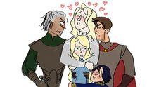 Celaena, Rowan, Aedion, Chaol and Dorian
