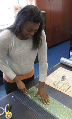 #Texas #archives #archivosporelmundo Creating a Mylar encapsulation for a newspaper   From: A Day in the ( #Texas Collection) Life: Jynnifer McClinton and Samantha Buerger, student assistants