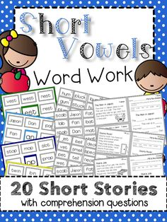 Introduce short word families in context and increase the rigor of your word work activities. This product includes  20 short stories and 20 sets of comprehension questions. Great for small groups, literacy centers, and independent work. Free sample available. Click on the cover to see more.