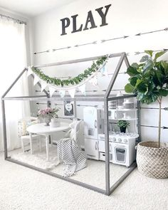 PLAYROOM DESIGN IDEAS I know January is all about organizing yourself and you home, and there is plenty of that going on. Since organization usually brings furniture rearranging and replacing, I t… kids playroom ideas 35 Playroom Design Ideas Playroom Design, Playroom Decor, Kid Decor, Cheap Playroom Ideas, Nursery Decor, Daycare Design, Nursery Frames, Baby Room Design, Room Ideias