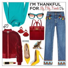 """I'm Thankful For My Poly Friends"" by pat912 ❤ liked on Polyvore featuring Etro, Chaus, Dolce&Gabbana, Jezzelle, Mulberry, Lisa Eisner, Thierry Lasry, L'Oréal Paris, friends and polyvoreeditorial"