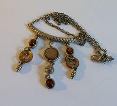 Super fun JYN vintage silver chain w/ beaded by VintageInspiredNow