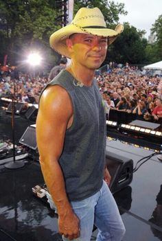 Kenny Chesney.. I'm almost ashamed to say how many times I've seen him in concert.. Oh well. Love him..