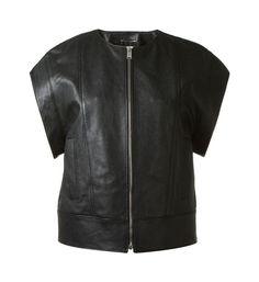 Saint Laurent short sleeve leather jacket - on #sale 30% off @ #FarFetch.com  #SaintLaurent