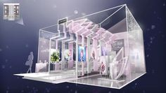 LANCOME Perfume Roadshow on Behance Pos Design, Display Design, Event Design, Exhibition Stand Design, Exhibition Display, Beauty Exhibition, Wedding Plants, Retail Store Design, Shop Interior Design