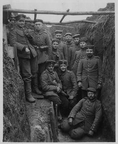 German Soldiers in Trench, c. 1915 by RV Bob, via Flickr