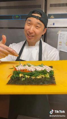 Cheesy Recipes, Easy Chicken Recipes, Easy Healthy Recipes, Sushi Recipes, Asian Recipes, Cooking Recipes, Tasty Videos, Food Videos, Plat Simple