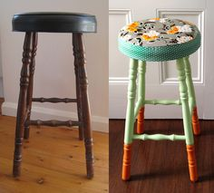 Stool before and after, with tutorial