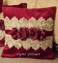 Silk Ribbon Embroidery Birds till Embroidery Patterns Easy off Embroidery Patterns Love this Embroidery Designs Running Stitch Bow Pillows, Couch Pillow Covers, Couch Pillows, Custom Pillows, Decorative Pillows, Cushions, Valentine Baskets, Pillow Crafts, Wedding Pillows