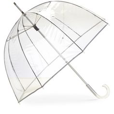 Totes Bubble Stick Umbrella ($13) ❤ liked on Polyvore featuring accessories, umbrellas, ivory, bubble umbrella, ivory umbrella, see through umbrella, totes umbrella and transparent umbrella