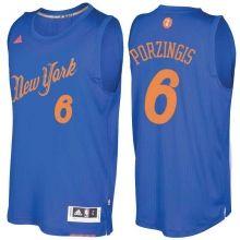 Men's New York Knicks Kristaps Porzingis Royal 2016 Christmas Day NBA Swingman Jersey