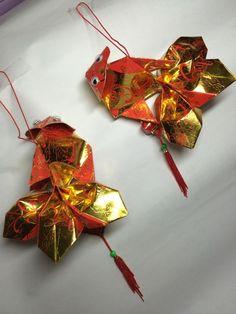 Handmade Red packet Lion Head Gold Fish Handicraft