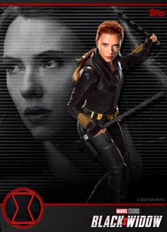 Another Black Widow tie-in trading card image has found its way online, and this one gives us a new look at star Scarlett Johansson as Natasha Romanoff wielding her batons in her upgraded costume. Black Widow Film, Black Widow Scarlett, Black Widow Natasha, Black Widow Marvel, Natasha Romanoff, Marvel Comic Universe, Marvel Cinematic Universe, Marvel Heroes, Marvel Dc