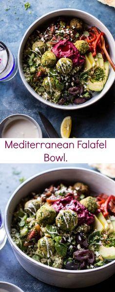 "Mediterranean Falafel Bowl | <a href="""" rel=""nofollow"" target=""_blank""></a> <a href=""/hbharvest/"" title=""Half Baked Harvest"">@Half Baked Harvest</a>"
