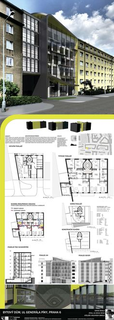 Studentský projekt. LS 2013/2014. FSv ČVUT v Praze. 3d M, Architecture Board, Ideas Para, Presentation, Boards, Floor Plans, Photoshop, Building, Design