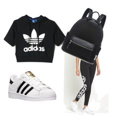 """""""Going out to the mall chillen with friends"""" by ionaloveme ❤ liked on Polyvore featuring adidas and adidas Originals"""