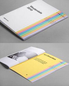 26 Best and Creative Brochure Design Ideas for your inspiration 3 painting brochure design by westerdals Printed Portfolio, Portfolio Book, Portfolio Design, Corporate Brochure Design, Brochure Layout, Design Poster, Print Design, Graphic Design, Design Referenz