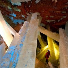 cave of crystals in Mexico