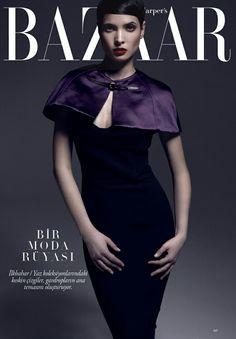 Hanaa Ben Abdesslem by Xevi Muntané for Harper's Bazaar Turkey April 2013