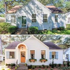 53 inspirational ideas for cottage home remodel exterior Renovation Facade, Architecture Renovation, This Old House, Home Exterior Makeover, Exterior Remodel, Magnolia Homes, Fixer Upper Style, Before After Home, House Tweaking