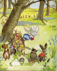 Ok, there are pixies and elves and woodland folk, but the stories of Pookie the winged rabbit who comes to live in the woods were very much loved in the '40s/'50s.