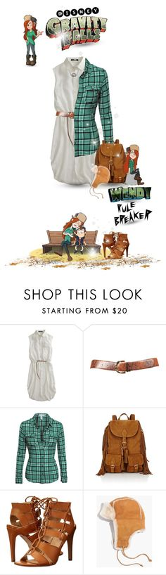 """""""Disney's Gravity Falls #wendycorduroy #rulebreaker #whiteshirt (#741)"""" by nobility99 ❤ liked on Polyvore featuring Tess Giberson, Yves Saint Laurent, Dolce Vita, Madewell and Disney"""