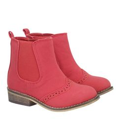 Mothercare Red Brogue Boots. Our red brogue boots make a trendy statement.