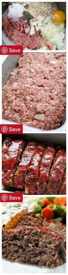 DIY Classic Meatloaf - Ingredients  Gluten free  Meat  1  lbs Ground beef  Produce   cup Onion  Refrigerated  1 Egg  Breakfast Foods   cup Quick oatmeal  Condiments  1/3 cup Ketchup  1 tbsp Mustard  Baking & Spices  2 tbsp Brown sugar   tsp Pepper  1  tsp Salt  Dairy   cup Milk #delicious #diy #Easy #food #love #recipe #recipes #tutorial #yummy @ICookUEat - Make sure to follow @ICookUEat cause we post alot of food recipes and DIY we post Food and drinks gifts animals and pets and sometimes…