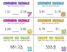 Decimal Activity-$4