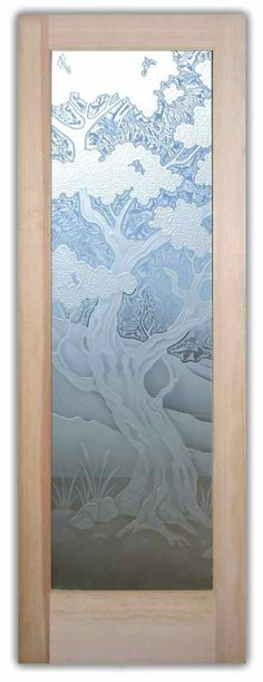 WOW! How pretty is this Etched glass door! Can be for a front door!