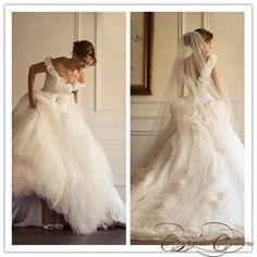 Off Shoulder Backless Ball Gown Wedding Dress