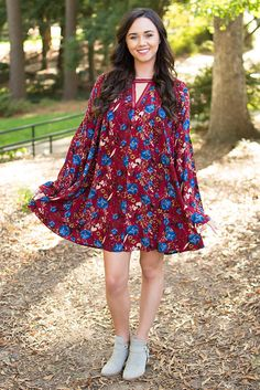 Umgee Affair In Red Square Swing Dress