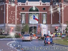 We get you to the front door advertising! Lone Star BikeCab providing fun awesome rides at all MLB games in Texas and much more!