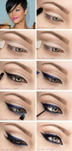 10 tutorials with attractive eyes # make-up . - Make-up - Love Makeup, Makeup Tips, Hair Makeup, Makeup Style, Makeup Tutorials, Pretty Makeup, Video Tutorials, Makeup Trends, Makeup Ideas