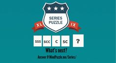 SeriesPuzzle Tough Interview Questions, What Next, Brain Teasers, Riddles, Puzzles, This Or That Questions, Number, Mind Games, Puzzle