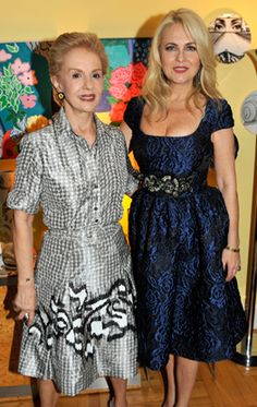 """The elegant Sra. Carolina Herrera (left) and Cornelia Guest. Cornelia is my age but I didn't pay much attention to her during her """"Deb of the year"""" stint."""