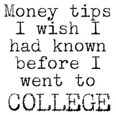 money tips for college.