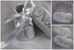 Baby boys Christening Baptism shoes boots crystal by ukcustomgifts, £24.99