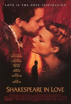 Shakespeare in Love is a 1998 British-American comedy film directed by John Madden, written by Marc Norman and playwright Tom Stoppard. The film depicts a love affair involving playwright William Shakespeare (Joseph Fiennes) at the time that he was writing the play Romeo and Juliet. The story is fiction, though several of the characters are based on real people. In addition, many of the characters, lines, and plot devices are references to Shakespeare's plays.