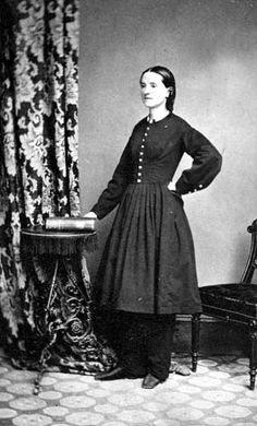 Mary Edwards Walker - Civil War Era feminist, abolitionist, prohibitionist, alleged spy, prisoner of war + surgeon.  She is also the only woman ever to receive the Medal of Honor.  Often wore trousers + dressed in men's clothing, advocated dress reform for women.