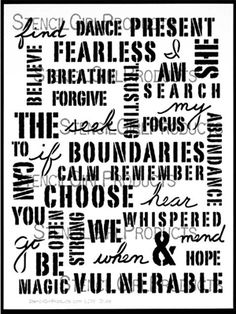 Click here to buy the Uplifting Words Stencil by Carolyn Dube for StencilGirl Products. $14.00