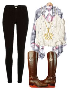 """Untitled #148"" by suri-rodriugez on Polyvore featuring Hollister Co. and Tory Burch"