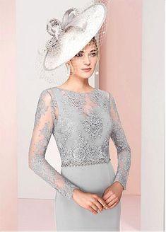 Brilliant Acetate Satin Bateau Neckline Knee-length Sheath/Column Mother Of The Bride Dresses With Beadings & Detachable Coat