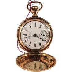 Hampden Molly Stark Gold Filled Ladies Pocket Watch Hunter Case