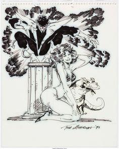 Tom Morgan - Nightcrawler, Kitty Pryde and Lockjaw Illustration - W.B.
