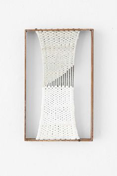 This is so fun, I feel like I need to try to DIY! Stefanie Fuoco Rectangle Weaving  @ Urban Outfitters