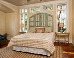 """Wonderful window-unit """"headboard"""" design by Visbeen Architects (using shatterproof glass, of course)."""