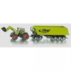 Siku - Farmer 1:50 - Tractors met aanhanger - Claas met voorlader en Fliegl op dolly 1:50 - Welkom bij T-Toys 22,49